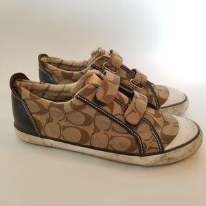 Coach Britt A1300 Shoes Sneakers Khaki 7.5 Flats